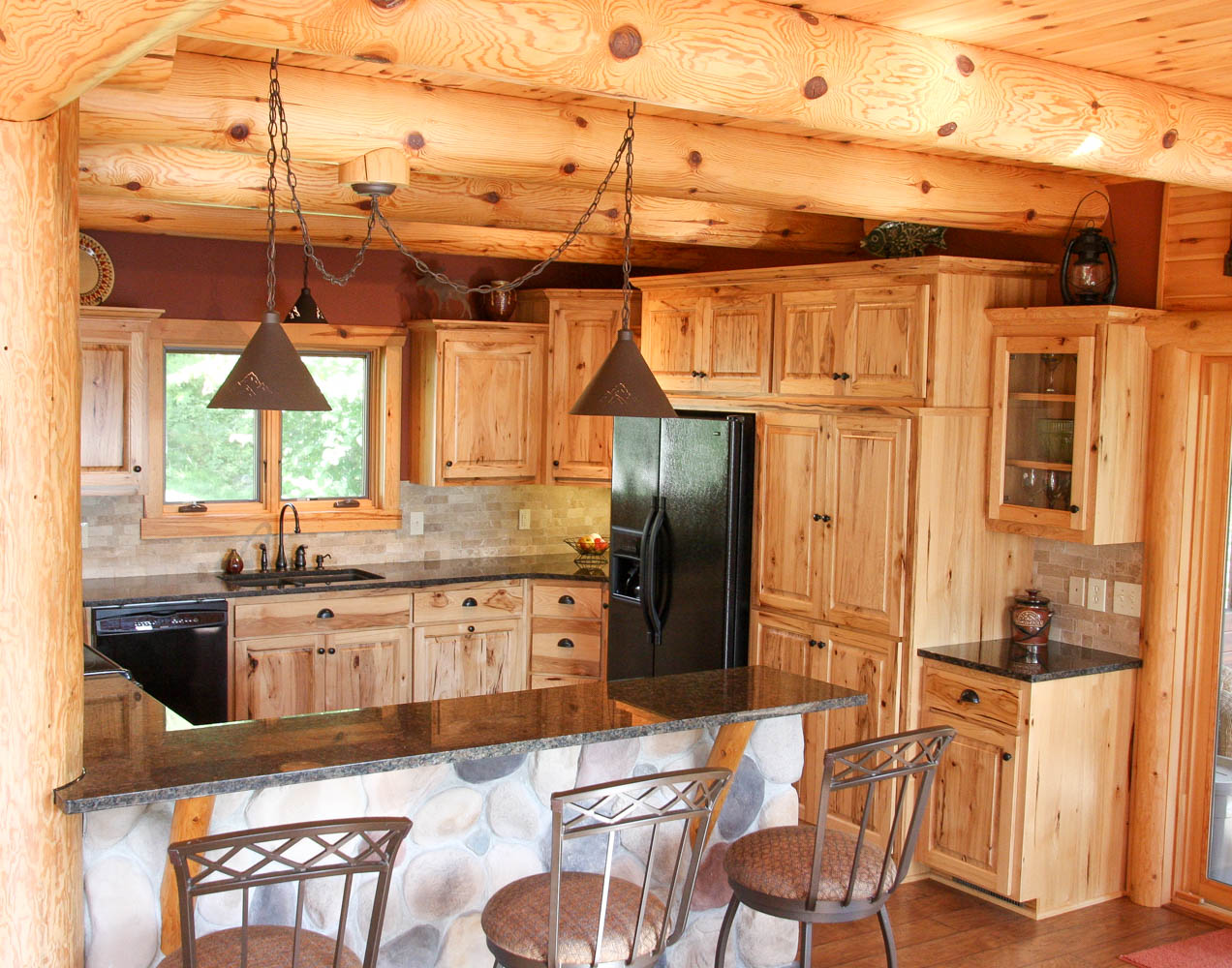 Cabin Kitchens Lake Home Kitchen Cook Mn Franklin Builders