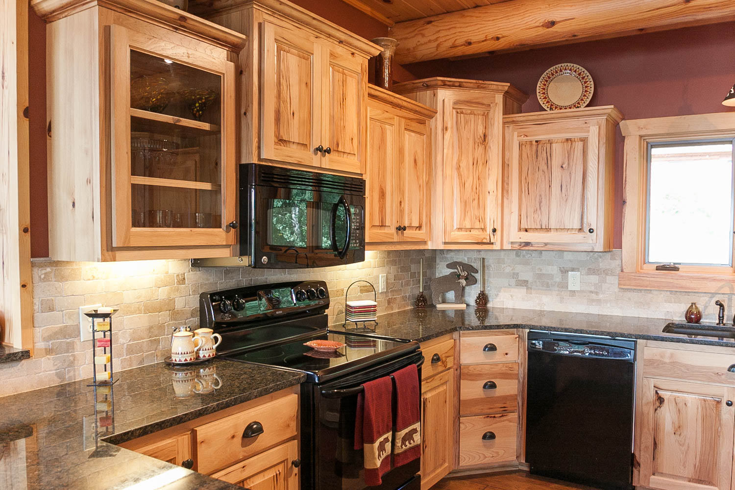 Rustic Beech Cabinets Kitchens Archives Franklin Builders