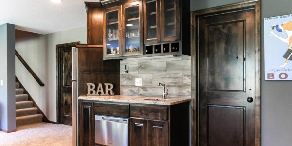 Basement Bar | Plymouth, MN | Custom Cabinets | Minneapolis Contractor | Twin Cities Custom Home Builders