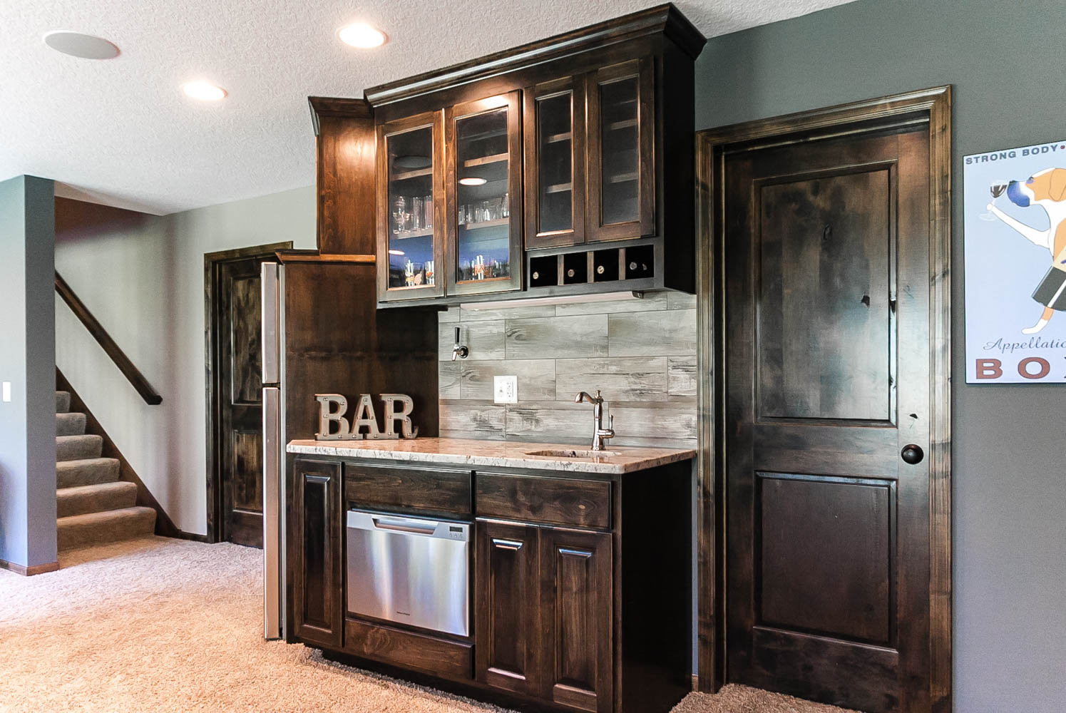 Custom wet bar plymouth mn franklin builders - Wet bar cabinets ...