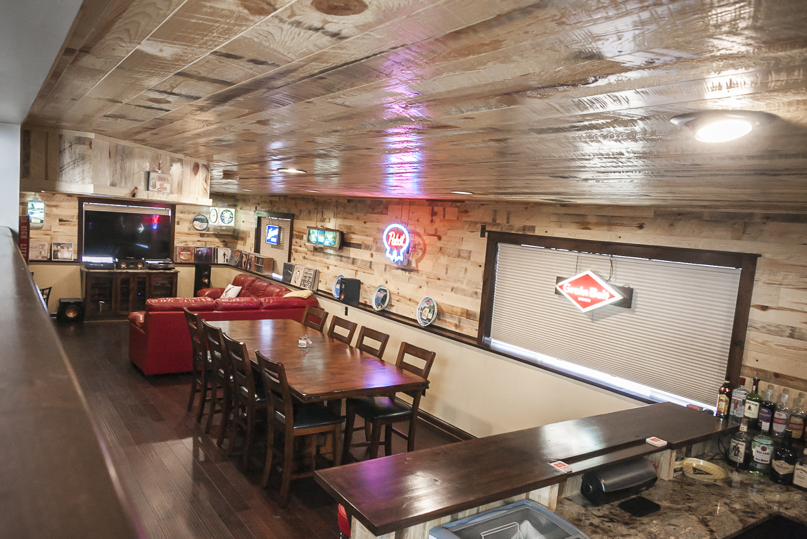Andover Minnesota Basement Bar Franklin Builders Twin Cities Custom ...