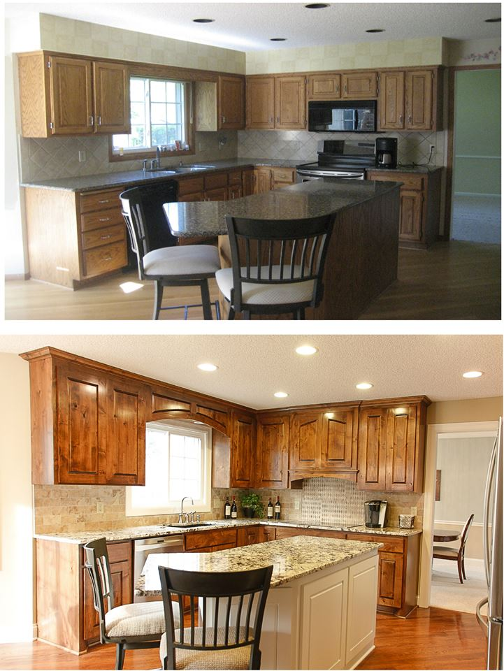 Berquist Before and After Sink Cabinets