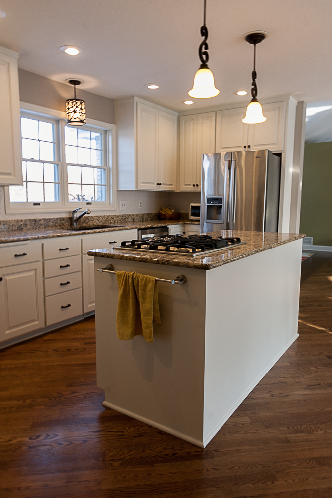 Ramsey MN Kitchen Remodel White Custom Cabinetry